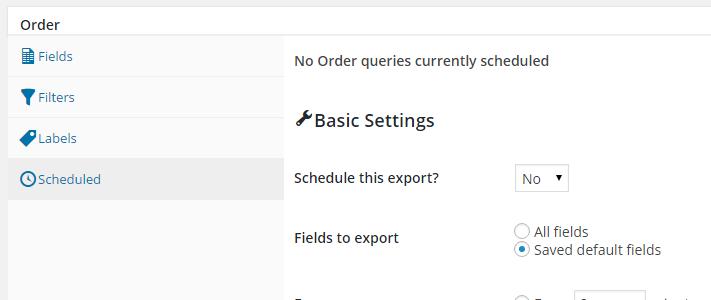 WooCommerce Automated Export