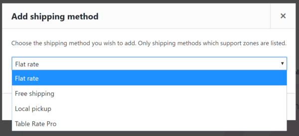 Adding a shipping method