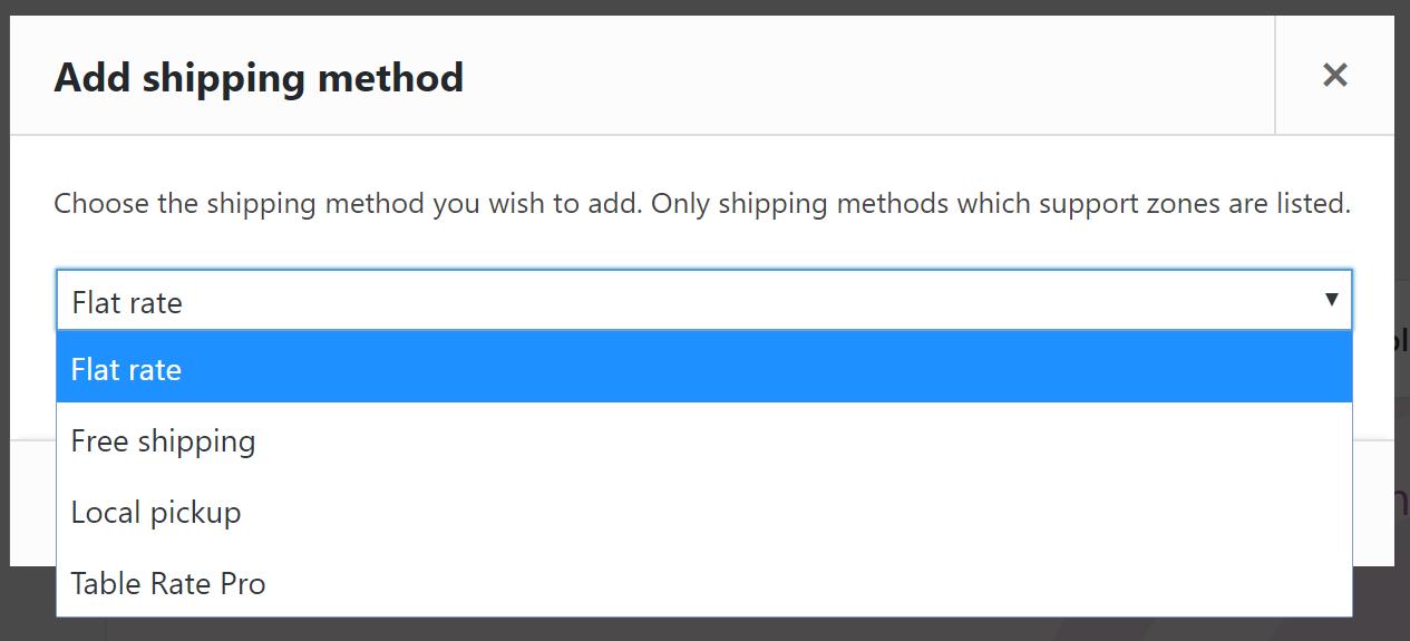Adding a shipping method