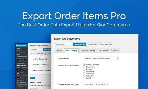 Export Order Items Pro   WooCommerce Plugin