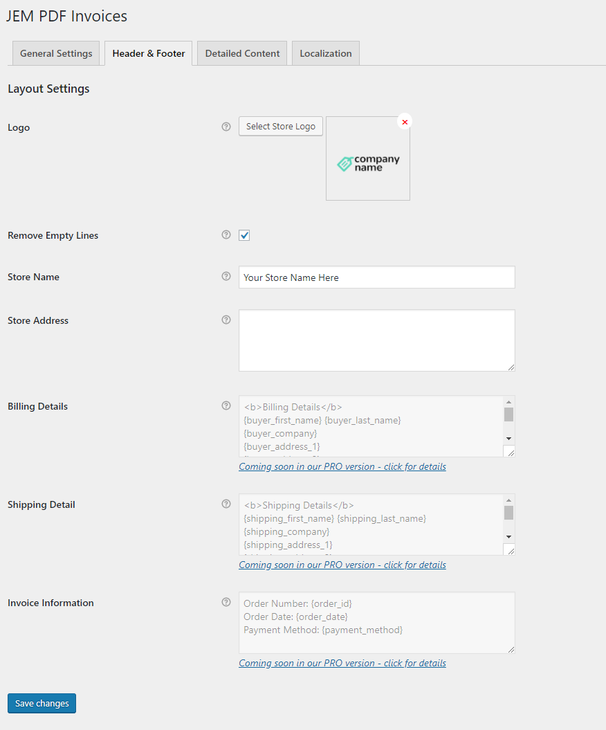 WooCommerce Invoices Free Plugin