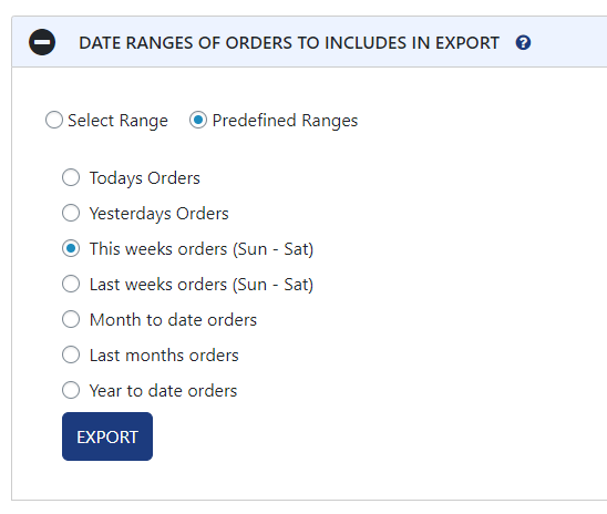 Date Selection
